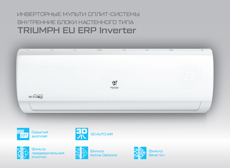 Внутренний блок настенного типа Royal Clima RCI-TM18HN/IN для серии Multi Flexi EU ERP Inverter