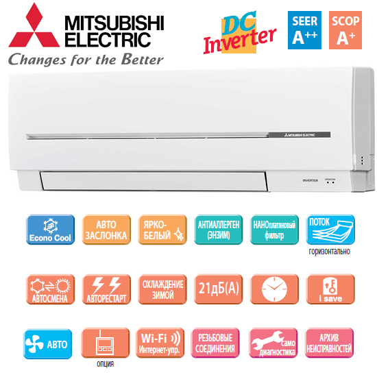 Настенная сплит-система Mitsubishi Electric MSZ-SF50VE/MUZ-SF50VE
